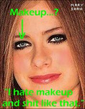 Avril's ugly face